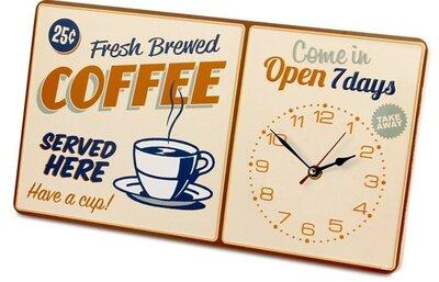 Balvi Coffee 40 cm klok