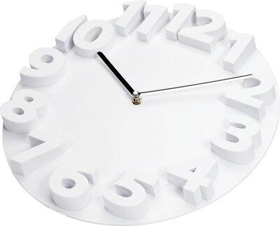 Tiq 3D wit 34 cm klok