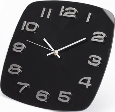 Tiq Square Glass zwart 32 cm klok
