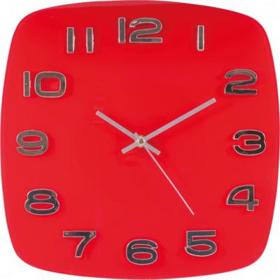 Tiq Square Glass rood 32 cm klok
