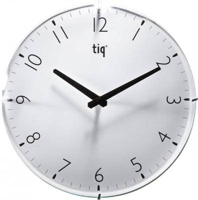 Tiq Circle Glass wit 40 cm klok