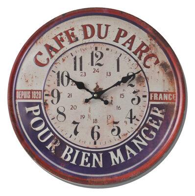 Balance Time Retro Cafe du Parc 40 cm klok