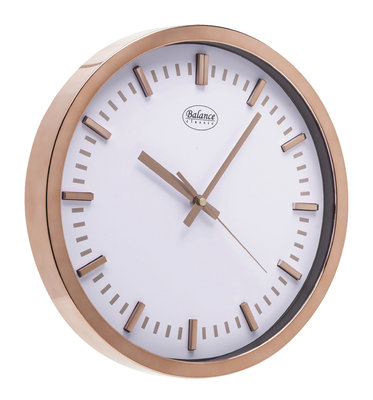 Balance Time Copper 30 cm klok