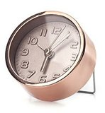 Kikkerland Mini Copper Alarm Clock 4 cm wekker