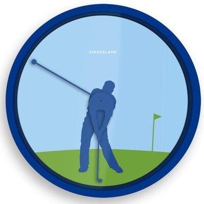 Kikkerland Golfer 20 cm klok