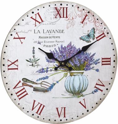 TFA Vintage La Lavande 33.7 cm klok