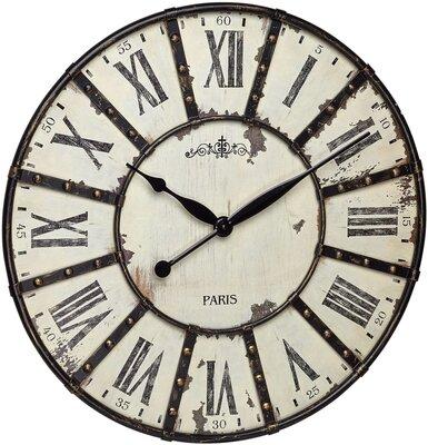 TFA Vintage Roman 60 cm klok