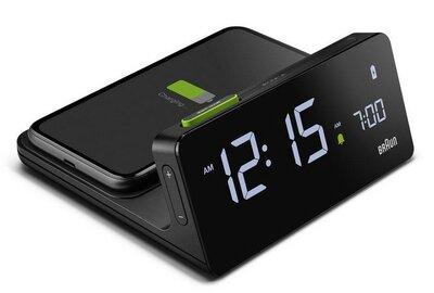 Braun BC21B wekker met draadloze telefoonlader