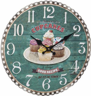 TFA Vintage Cupcakes 33.7 cm klok