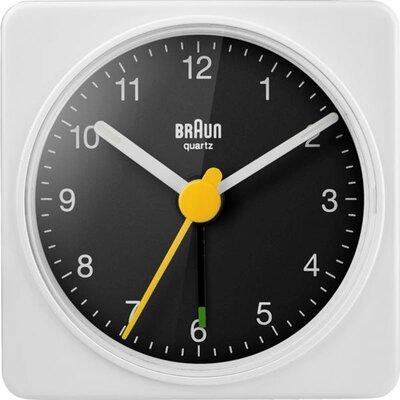 Braun BC02WB wit/zwart 6 cm wekker