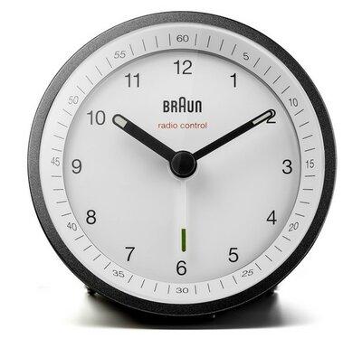 Braun BC07BW-DCF zwart/wit 8 cm radiogestuurde wekker