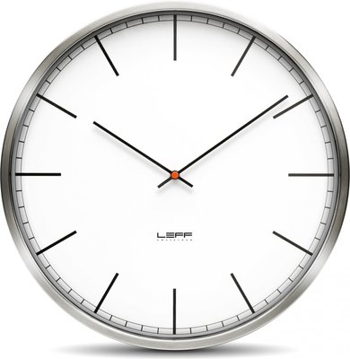 LEFF Amsterdam One White Index 25 cm klok