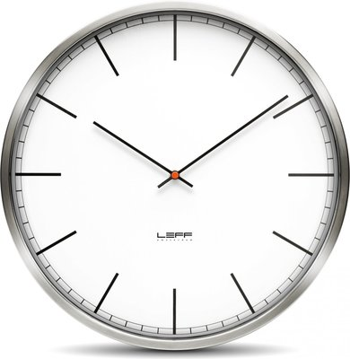 LEFF Amsterdam One White Index 35 cm klok