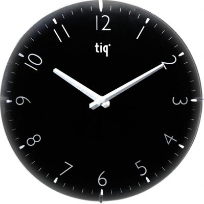 Tiq Circle Glass zwart 30 cm klok