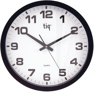 Tiq Basic black 40 cm klok