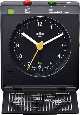 Braun BNC005 zwart 7 cm wekker