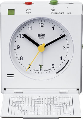 Braun BNC005 wit 7 cm wekker