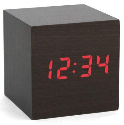 Kikkerland Darkwood Clap-On Cube 7 cm klok