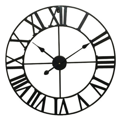 Balance Time Retro Black 60 cm klok