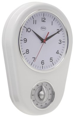 Balance Time Kitchen Hero wit 31 cm klok