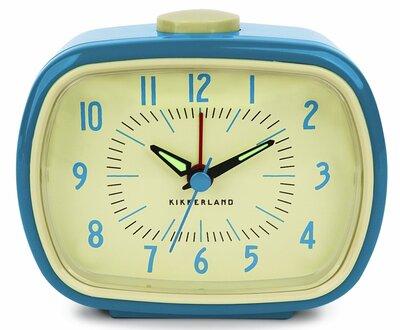 Kikkerland Blue Retro 9 cm klok