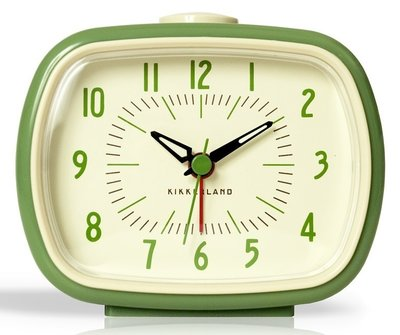Kikkerland Green Retro 9 cm klok