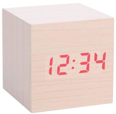Kikkerland Lightwood Clap-On Cube 7 cm klok