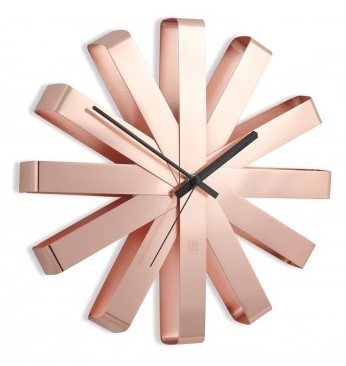 Umbra Ribbon copper 32 cm klok