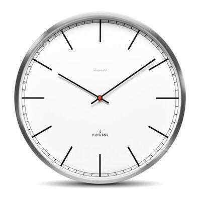 Huygens One White Index RC 35 cm klok