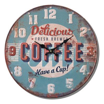 Balance Time Retro Coffee 40 cm klok