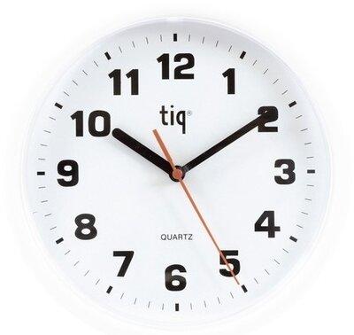 Tiq Plastico white 24 cm klok