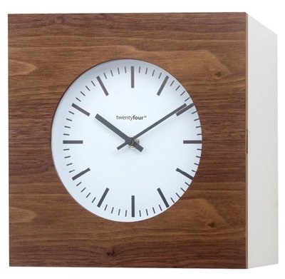 Balvi Qubo Oak/White Wood 25 cm klok