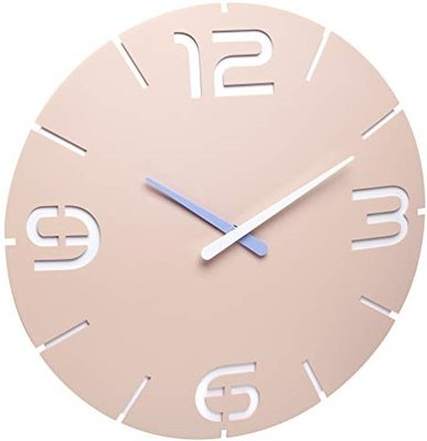 TFA Contour Radiogestuurd roze 35 cm klok