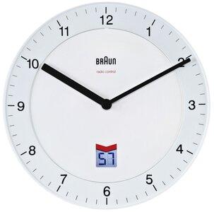 afbeelding van Braun BNC006 wit 20 cm radiogestuurde klok