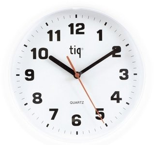afbeelding van Tiq Plastico white 24 cm klok