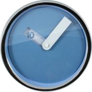 Afbeelding van Tiq Disk blauw 20 cm klok